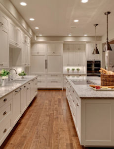 European Birch Wood Kitchen Cabinet pictures & photos