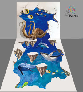 Octopus Dolphin Sea 3D Floor Sticker pictures & photos