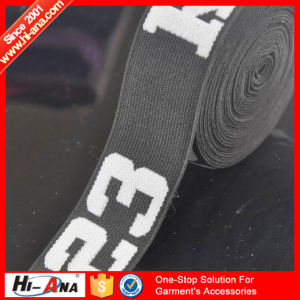 Custom Made Print Logo Best Selling Elastic Webbing pictures & photos