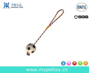 Rubber Soccer Rope Dog Toy pictures & photos