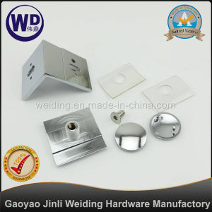 Adjustable 90 Degree Beveled Wall Mount Glass Clamp Wt-R109 pictures & photos