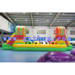 Commercial Inflatable Wipe out Ball Challenge/Inflatable Wipeout Jumping Baller pictures & photos