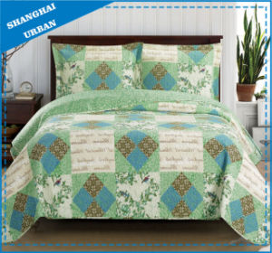 Vintage Country Printed Polyester Patchwork Style Bedspread Set pictures & photos