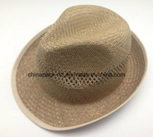 100% Paglia Natural Straw Fedora Hats for Men (CPA_60245) pictures & photos