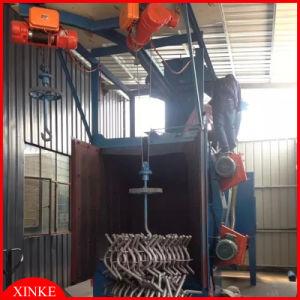 Double Hoist Spinner Hanger Sand Blast Polishing Machine pictures & photos