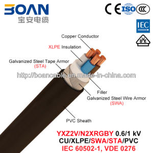 Yxz2V/N2xrgby, Power Cable, 0.6/1 Kv, Cu/XLPE/PVC/Swa/Sta/PVC (IEC 60502-1, VDE 0276) pictures & photos