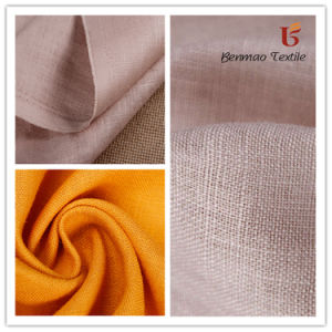 Pure Linen Plain Dyed Fabric/ Linen Viscose Fabric for Garment pictures & photos