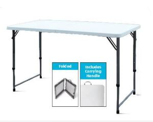 Plastic Folding Half Table, Banquet Dining Table pictures & photos
