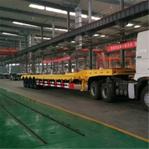 3 Axles Skeleton and Flat Bed Container Semi Trailer pictures & photos