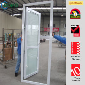 White Glass with Blind Interior Doors, UPVC Blinds Glass Doors pictures & photos