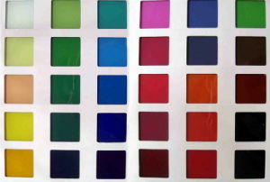 Colored Glass/Painting Glass/ Silk Screen Glass/Patnted Glass for Furniture Shelf or Splashback Panel pictures & photos