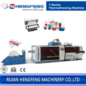in Line Extrusion Plastic Thermoforming Machine (HFTF70T) pictures & photos