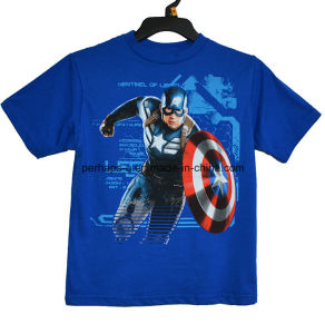 High Quality Captain American Printing Boys T Shirt Children Wear pictures & photos