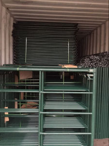Green Powder Coated Scaffolding Frame Manufacured From Chinese Factory pictures & photos