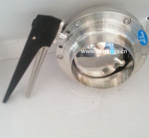 Hygienic Stainless Steel Butterfly Valve Welded Manual Valve pictures & photos