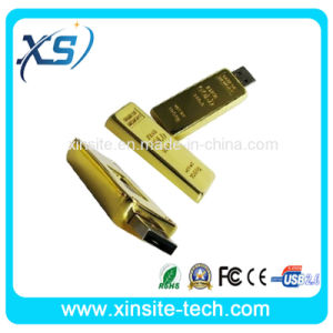 015 Real Capacity Gold Bar USB 2.0 Flash Memory Drive Stick Disk (XST-U115)