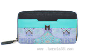 Digital Printing High Standard Women Cow Leather Wallet (HW250015)