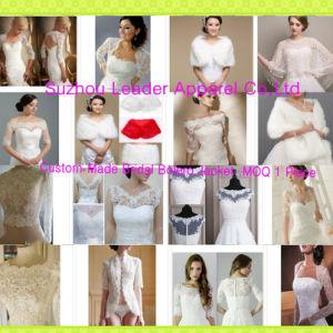 Customized Wedding Bolero Jackets Lace Fur Shawl Bridal Accessories Jacket Z8055 pictures & photos