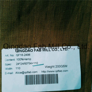 Hemp Fabric for Bedding/Bedclothes (QF16-2496) pictures & photos