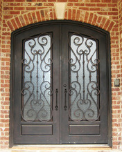 2016 Classic Decorative Wrought Iron Front Entry Doors Design (UID-D073) pictures & photos