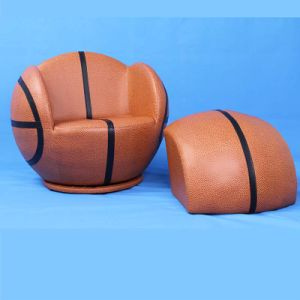 Basketball Children Leather Turntable Sofa with Ottoman/Kids Furniture/Baby Chair (SF-107) pictures & photos