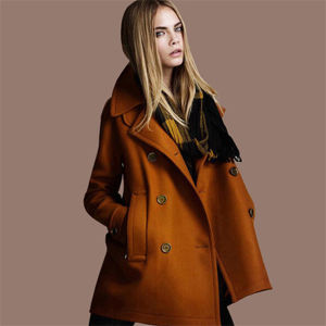 Wholesale Cheap Winter Wool Ladies Overcoat Designs (50227) pictures & photos