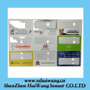 Best Selling 85*55mm Hw802 Name Card Fresnel Lens Magnifier Maginifier Lens Name Card, Credit Card pictures & photos