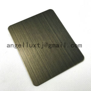 Direct Selling 304 Hairline Stainless Steel Sheet Fingerprint Resistant Hotel Elevator Decoration Stainless Steel Sheet pictures & photos