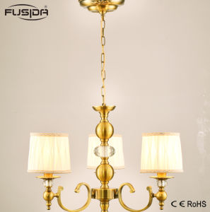 Hotsale Iron Brass Pendant Lighting with Cloth Shade pictures & photos