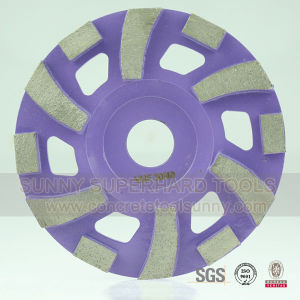 "180mm 4"" 4.5"" 5"" 6"" Diamond Concrete Floor & Stone Grinding Cup Wheel pictures & photos"