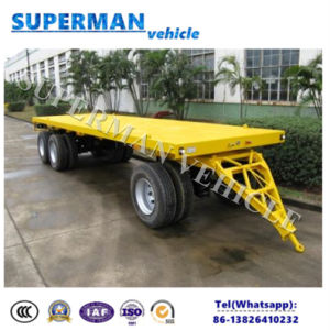 Tri Axle Lowdeck Drawbar Pulling Dolly Trailer/ Lowbed Semi Trailer pictures & photos
