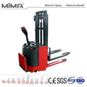 High Quality Battery Operated Electric Pallet Stacker pictures & photos