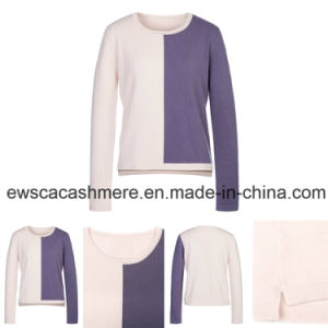 Lady Color Shading Long Sleeve Pure Cashmere Knitwear