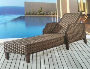 Outdoor Furniture Rattan Lying Bed Pool Lounge Chair pictures & photos