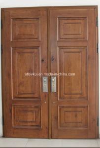 Security Steel Frame Wooden Door
