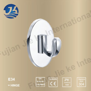 Hot Sell 304 Solid Casting Stainless Steel Bathroom Robe Hanger (E34) pictures & photos