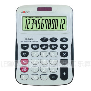 12 Digits Solar Power Desk Calculator with Large Room for Logo Printing (LC257-12D) pictures & photos