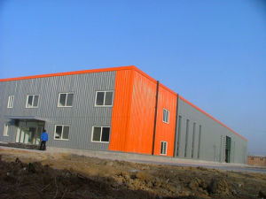 Portal Frame Prefabricated Light Steel Structure Workshop for Inventory Center (KXD-210) pictures & photos