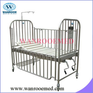 Full Stainless Steel Double Crank Pediatric Crib pictures & photos