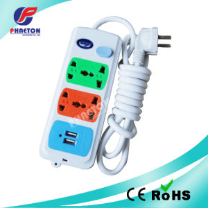 4way Extension Socket with Universal Socket with USB 2 Ports pictures & photos