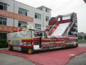 Commercial Giant Inflatable Fire Engine Slide for Sale Chsl244 pictures & photos