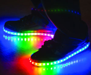 2016 New Fashion Rainbow LED Shoes with Competitive Price pictures & photos