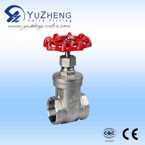 Stainless Steel Threaded Bsp/NPT Gate Valve pictures & photos