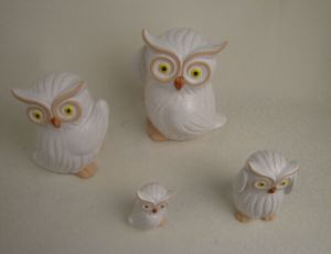 Ceramic Gifts White Owl for Salegarden Ornament pictures & photos
