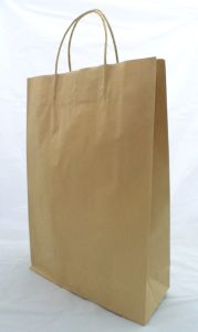Large Brown Kraft Paper Carry Bags pictures & photos