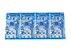 4layers Printed Circuit Board with Immersion Gold/Blue Soldermask