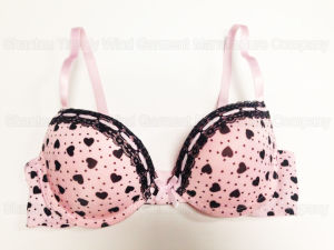 Push up Printed Bra with Lace and Ribbon pictures & photos