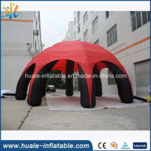 Giant Red and Black Advertising Inflatable Dome Tent Eight Legs