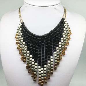 Paiting Colorful Chain Tissue Necklace (XJW13788) pictures & photos