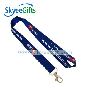 Blue Printed Card Neck Lanyards with Company Info and Logo pictures & photos